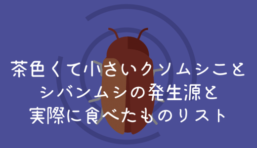 茶色くて小さい虫シバンムシの発生源めちゃ意外な場所だったww +シバンムシが食べたものまとめ