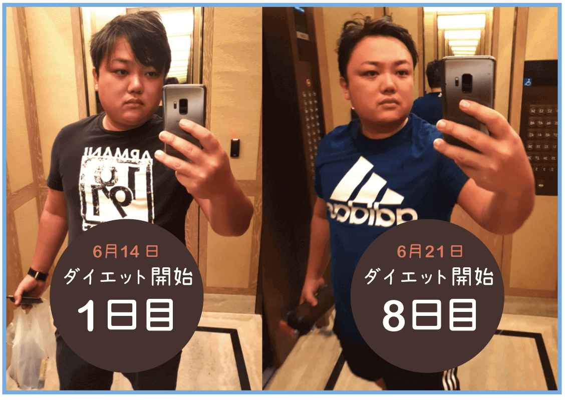 与沢翼ダイエット変化1