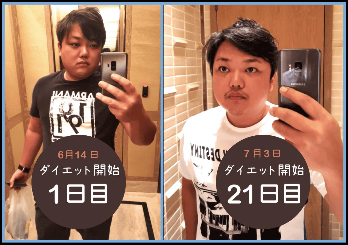 与沢翼ダイエット変化4_初期との比較