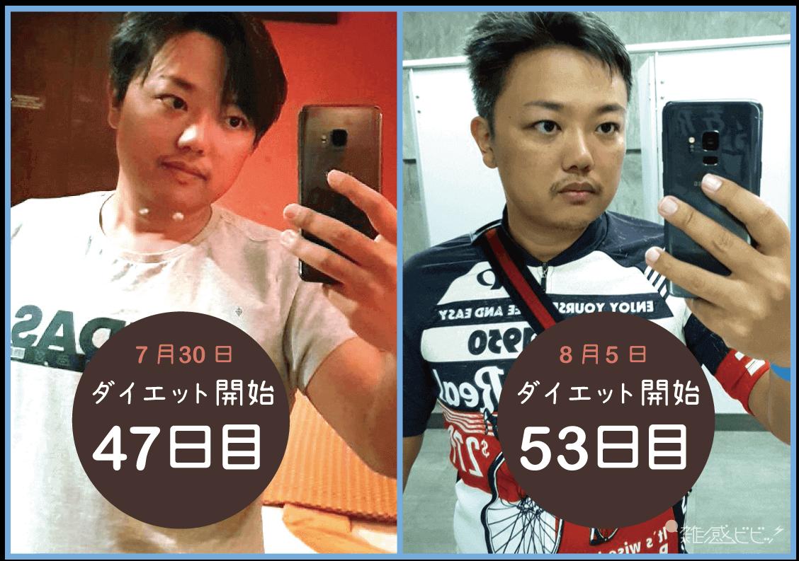 与沢翼ダイエット変化の比較