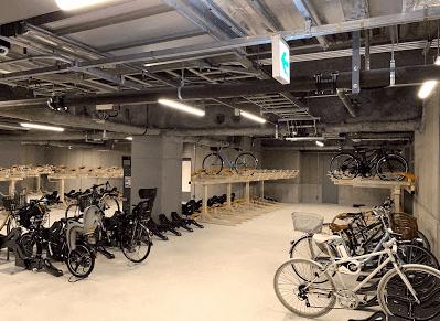 渋谷ストリームの駐輪場