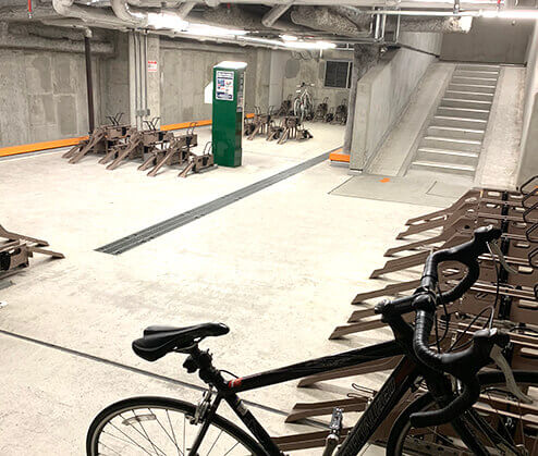 渋谷ヒカリエ自転車駐輪場