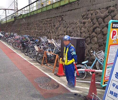 渋谷駅ハチ公口自転車駐車場