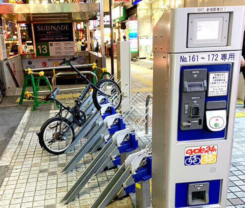 新宿東口駐輪場