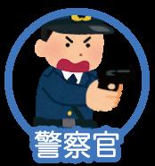 渋谷の警察が威嚇する絵