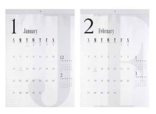 2019年シンプルなカレンダー2-1