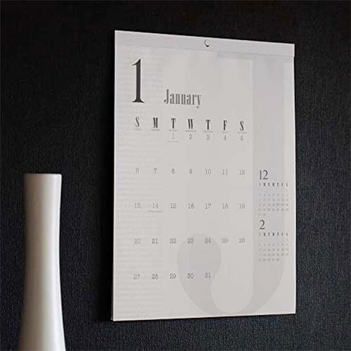 2019年シンプルなカレンダー2
