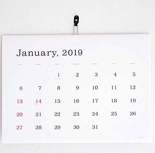 2019年シンプルなカレンダー4