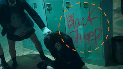 欅坂46の黒い羊MV「建物の中」1階フロアのシーン