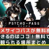 アニメサイコパス(PSYCHO-PASS)が無料で観られる場所の記事アイキャッチ画像