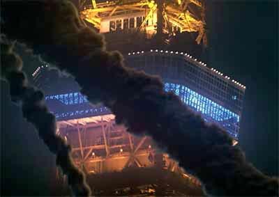 冒頭の東京タワーにある煙についての画像