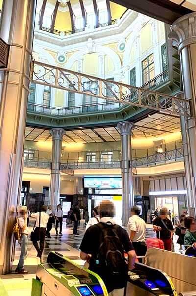 ニューヨーク・パーフェクト・チーズの東京駅店舗の場所を細かく説明した画像